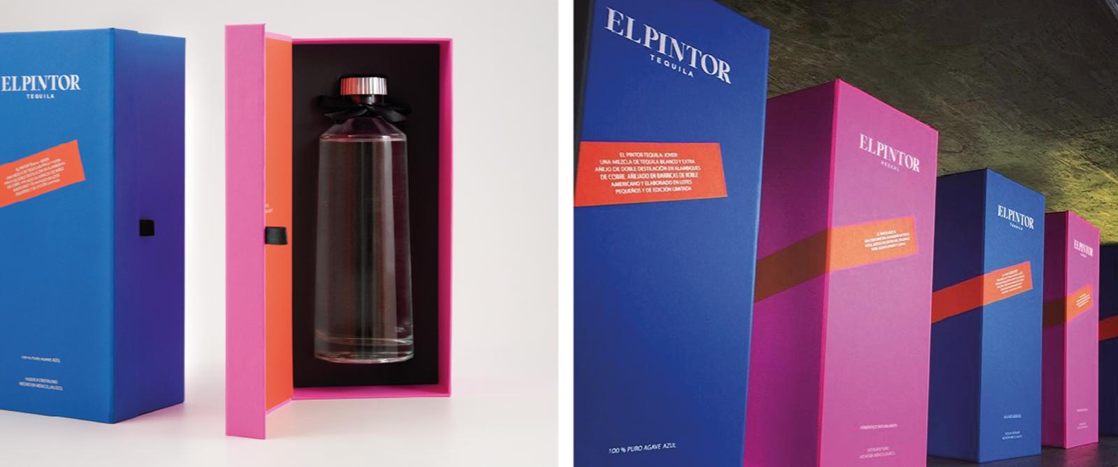 Specialty Products fabrica llamativo empaque para tequila y mezcal EL PINTOR